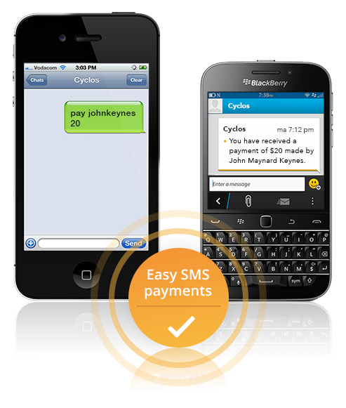 Easy SMS payment